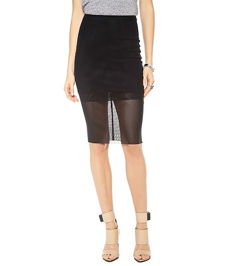 Bec & Bridge  Kathy Mesh Pencil Skirt