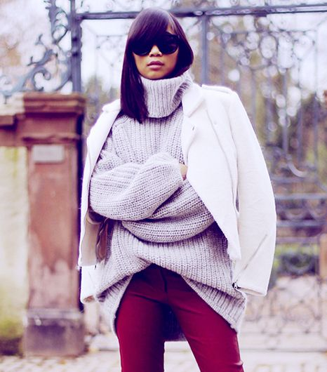 How To Layer Your Chunky Sweater Like A Style Blogger