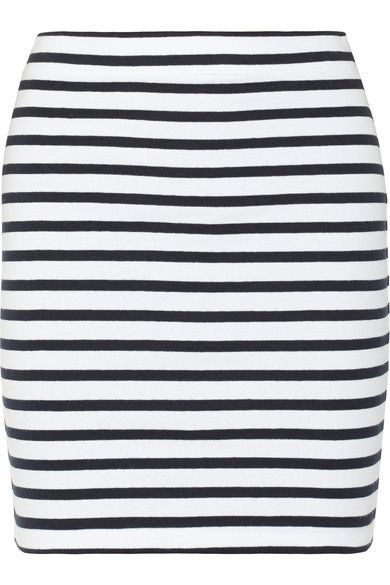 Alexander Wang  Striped Stretch-Cotton Pencil Skirt
