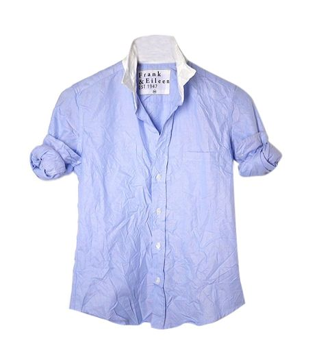 Frank and Eileen Barry Contrast Collar Shirt  Frank and Eileen Barry Contrast Collar Shirt