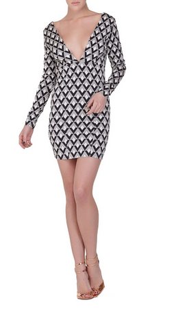 Again Collection Commadore Longsleeve Dress