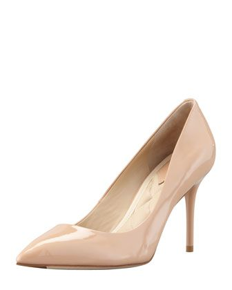 B Brian Atwood  Malika Patent Pointed-Toe Pumps