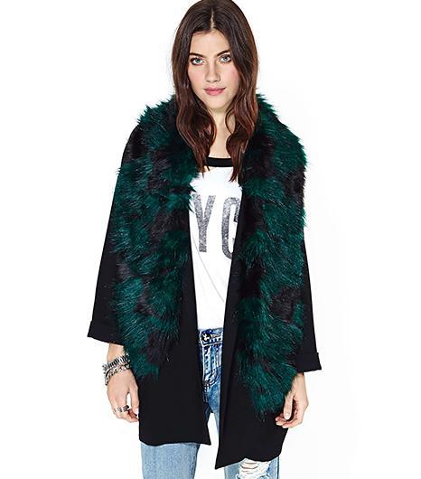 Nasty Gal  Bernadette Faux Fur Scarf