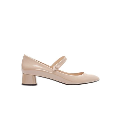 Zara  Zara Block Heel Ballerina Shoes