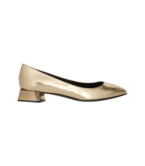 Fendi  Fendi Metallic Leather Flats