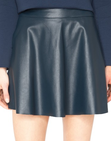 Pixie Market  Maya Leather Skater Skirt