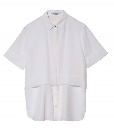 T by Alexander Wang  Silk Chiffon Shirt
