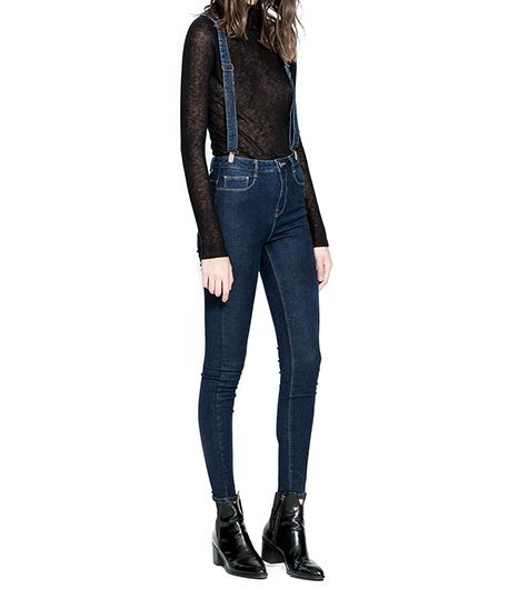 Zara  Jeans With Suspenders