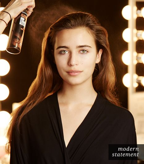 Hair: Start With Dry Hair This hairstyle needs to look smooth and sophisticated, so start with a heat-activated styling spray. Roszak uses L'Oreal Paris' Advanced Hairstyle SLEEK IT...