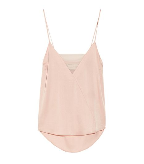 By Malene Birger Niharika Stretch-Silk And Georgette Camisole ($275)