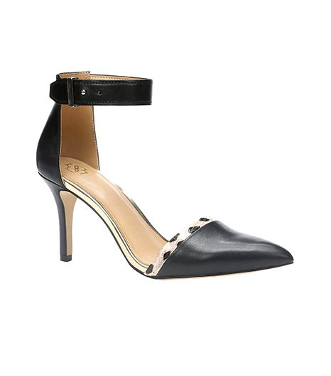 Ann Taylor Juliette Leather Ankle Strap Heels ($128)