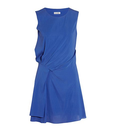 Jil Sander Nitro Gathered Stretch-Silk Dress ($417)