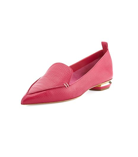 Nicholas Kirkwood Pebbled Point-Toe Loafers ($395)