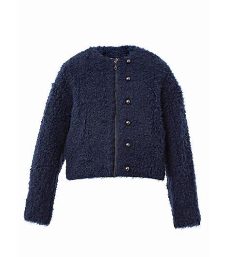 Kenzo Faux-Fux Short Jacket