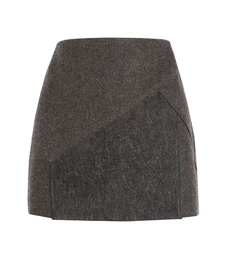 Neil Barrett Felt And Wool-Blend Skirt