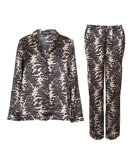 Topshop Fern Print Night Shirt & PJ Bottoms