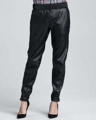 Blank  Relaxed Faux-Leather Pants