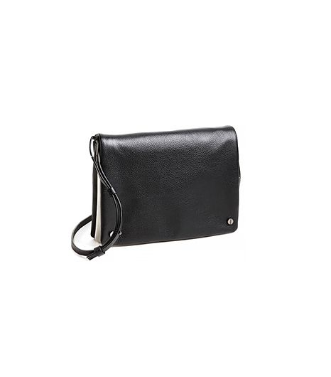 Trouve Two-Tone Leather Crossbody Bag ($98) in Black/White
