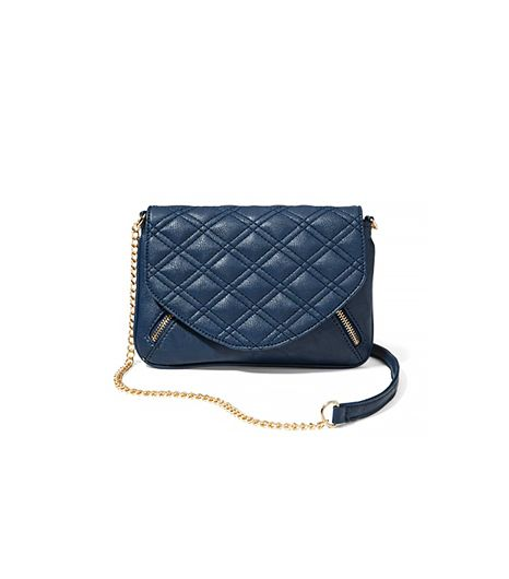 New York & Company Quilted Crossbody Bg