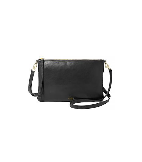 Fossil Sydney Crossbody Small Bag ($128) in Black
