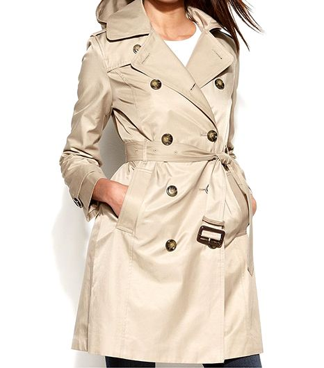 London Fog  All Weather Hooded Trench Coat