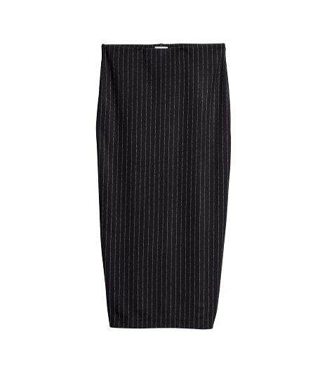 H&M Pencil Skirt in Chalkstripe