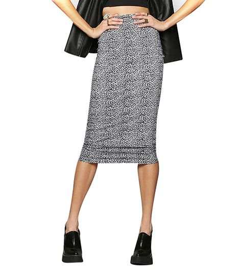 Motel Bobbie Fitted Midi Skirt