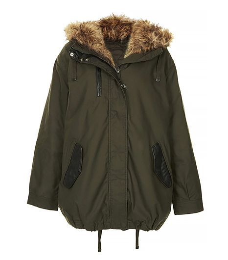 Topshop  Faux Fox Fur Oversized Padded Parka