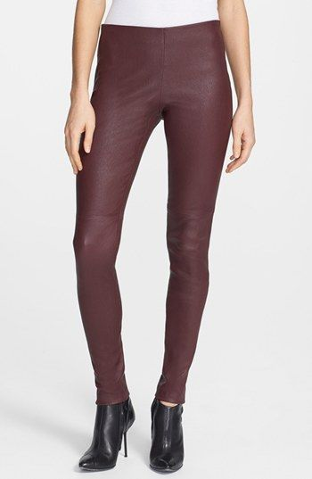 Theory  Pialle Leather Skinny Pants