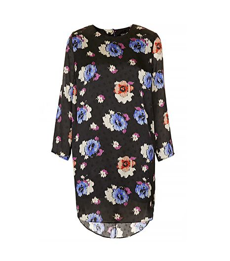 Topshop Spot Floral Tunic Dress