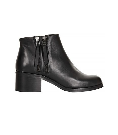 Topshop Ark Double Zip Ankle Boots
