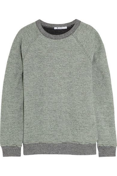 T by Alexander Wang  Rainbow Cotton-Terry Sweatshirt