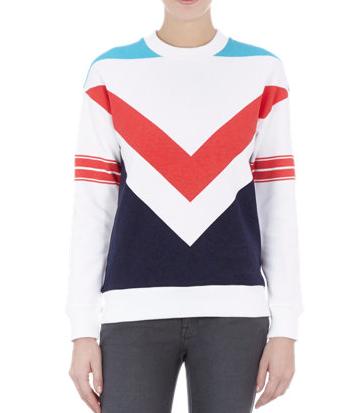 Etre Cecile  Colorblock Chevron-Print Sweatshirt