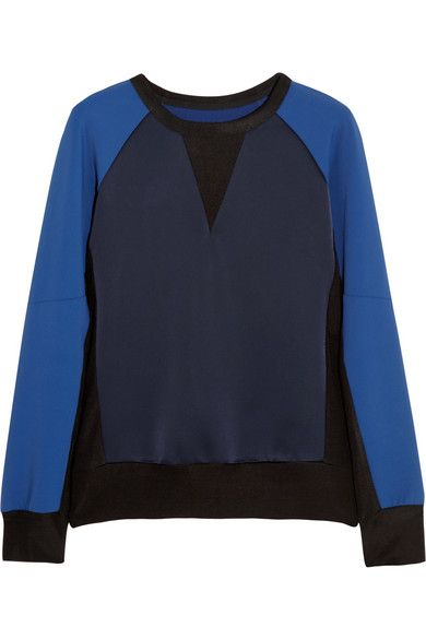 Rag & Bone  Kent Stretch-Satin Jersey Sweatshirt