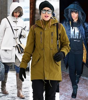 Snow Day! See How Your Favourite Celebs Brave The Elements