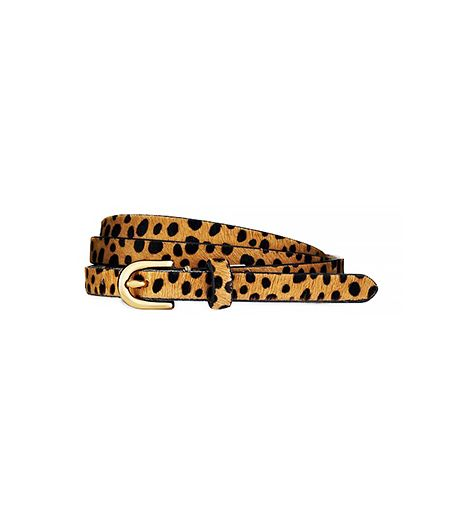 Ann Taylor  Animal Print Perfect Haircalf Skinny Belt