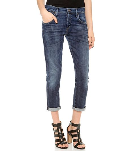 Citizens of Humanity Emerson Slim Ankle BF Jeans in Blue Ridge