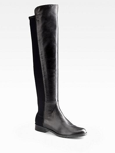 Stuart Weitzman  Black Nappa 5050 Boots