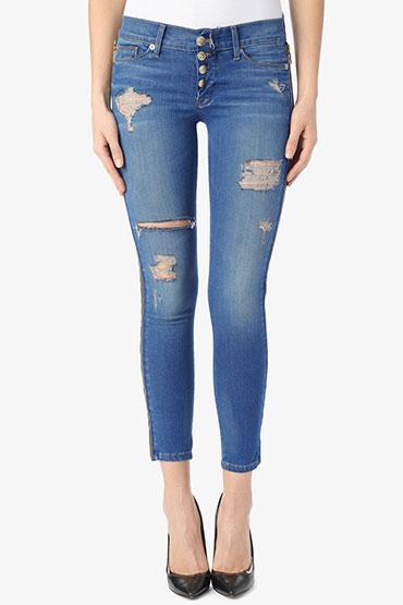 Hudson  Sid Zipper Super Skinny Crop Jeans