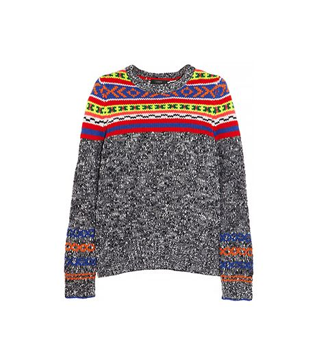 J.Crew  Fair Isle Wool-Blend Sweater