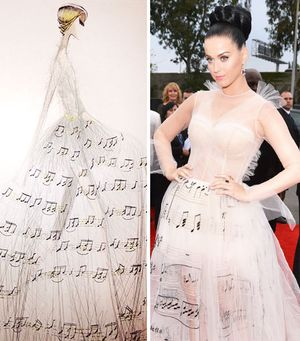 Exclusive! Get The Scoop On Katy Perry's Valentino Grammy Dresses