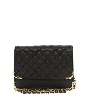 ASOS  Quilted Metal Corner Cross Body Bag
