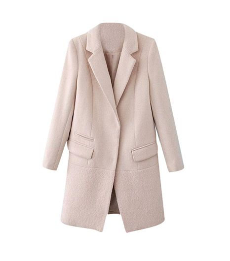 Sheinside Sheinside Notch Lapel Long Sleeve Pockets Coat