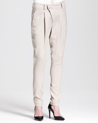 Helmut Lang  Asymmetric Pleat-Front Pants