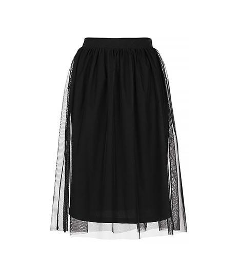 Topshop  Black Midi Tulle Skirt