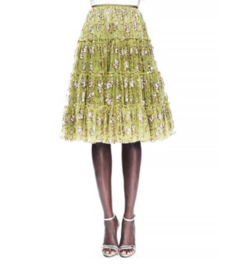 Lanvin  Tiered Tulle Skirt