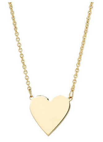 Sarah Chloe Lily Solid Heart Necklace