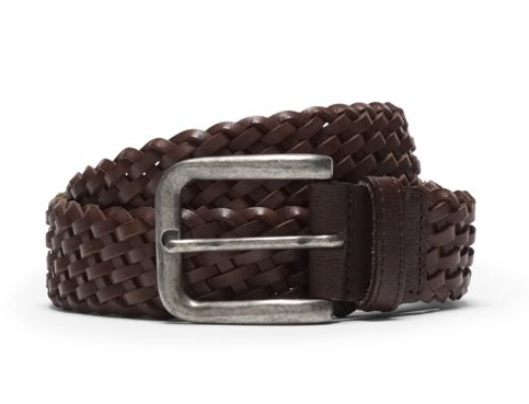 Club Monaco Mino Woven Leather Belt