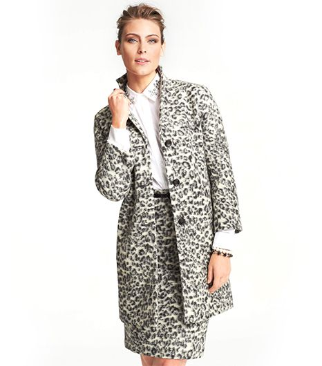 Ann Taylor Animal Jacquard Coat