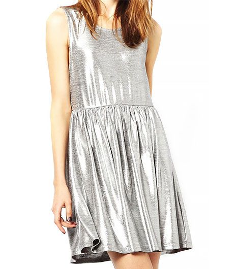 Minkpink  Blame It On The Boogie Metallic Smock Dress